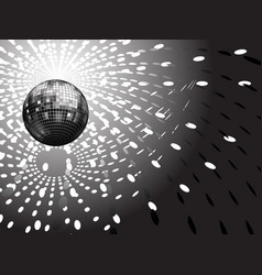 Disco globe and light reflections vector