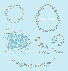Easter Floral Design Elements vector image