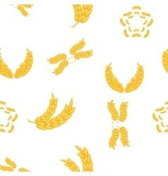 Grain of wheat pattern cartoon style vector