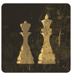king and queen silhouettes grunge vector image vector image