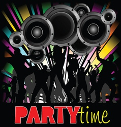party time with young people vector image