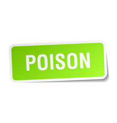 Poison square sticker on white vector