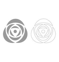 rose grey set icon vector image vector image