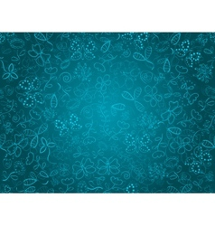 seamless doodle pattern background with flower and vector image