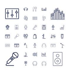 37 studio icons vector