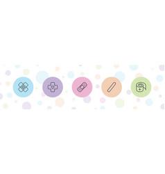 5 bandaid icons vector