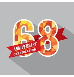 68th Years Anniversary Celebration Design vector image