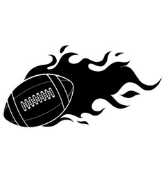 A cartoon american football ball vector
