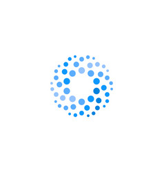 Abstract blue color round logo from circles water vector