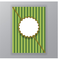 abstract green geometric page template vector image