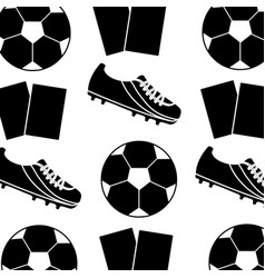 Ball cleat cards football soccer pattern image vector