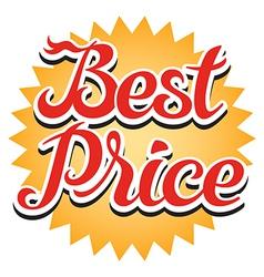 Best Price Sticker vector image