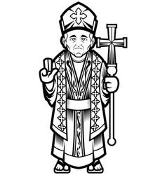 bishop line art vector image