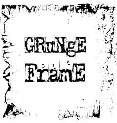 Black and white grunge frame vector