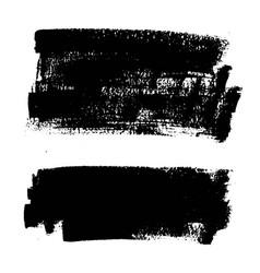 black paint ink brush stroke background box vector image