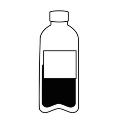 bottle water plastic icon vector image