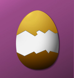 Brown easter egg without the shell purple vector