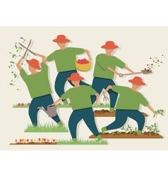 Busy gardener vector image