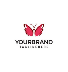 butterfly logo design concept template vector image