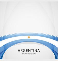celebrating argentina independence day vector image