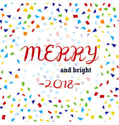 christmas card with confetti vector image