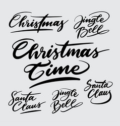 Christmas time handwriting calligraphy vector
