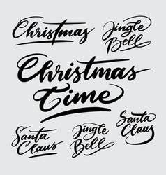Christmas time handwriting calligraphy vector
