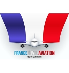 Civil Aircraft with space for text vector