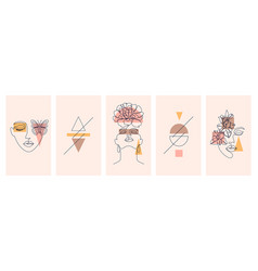 collection cards vector image