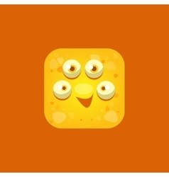 Content Yellow Monster Emoji Icon vector image