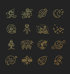 cosmos icons vector image