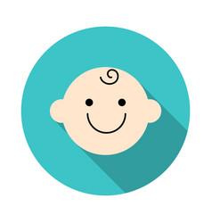 cute baby face icon symbol little baby boy vector image
