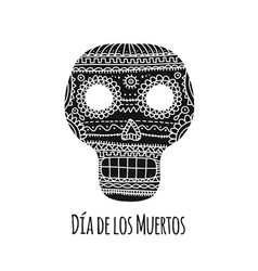 day of the dead mexican sugar skull for your vector image
