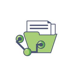 Digital file icon fill design vector