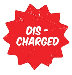 Discharged rubber stamp vector image