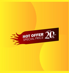 Discount up to 20 off hot offer special price vector