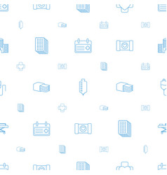 emergency icons pattern seamless white background vector image