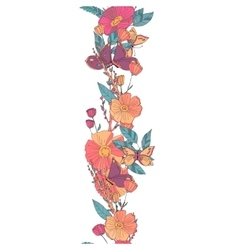 Floral seamless garland vector image