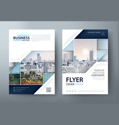 flyer leaflet cover book cover template vector image