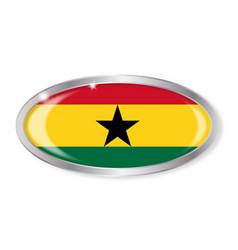 ghana flag oval button vector image