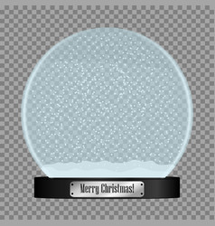 glass snow globe vector image