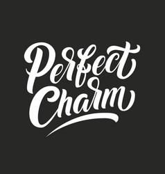 Hand drawn lettering perfect charm elegant vector