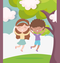 happy children day smiling boy and girl vector image