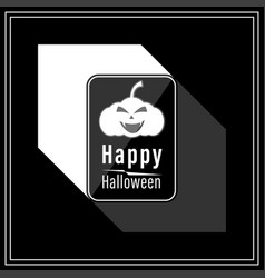 happy halloween modern style in black and white vector image