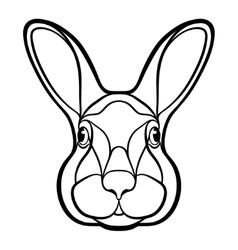 Head a rabbit hare coloring vector