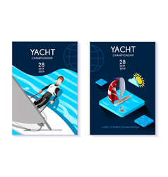 hobby template for yacht club vector image