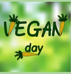international day of vegetarian nov 1 vegan day vector image