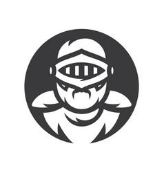 Knight sign crusader helmet silhouette vector