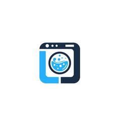 Laundry letter l logo icon design vector