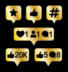 Like follower comment icons vector